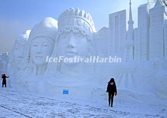 Snow Sculpture, Harbin, China