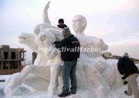 Making a Snow Sculpture
