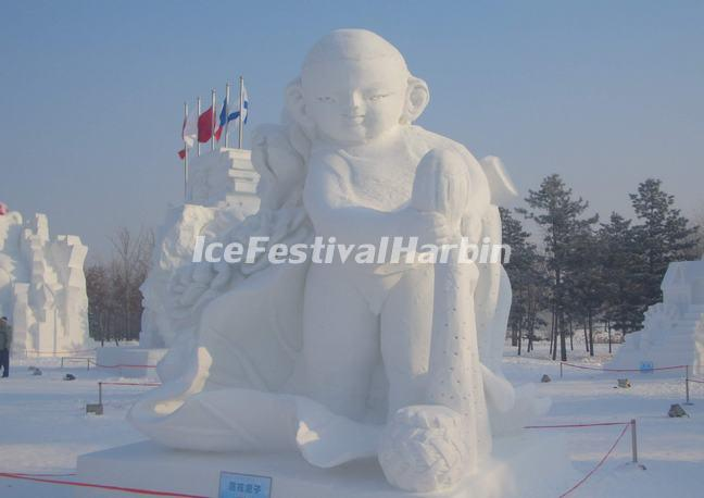 A Snow Buddha Sculpture