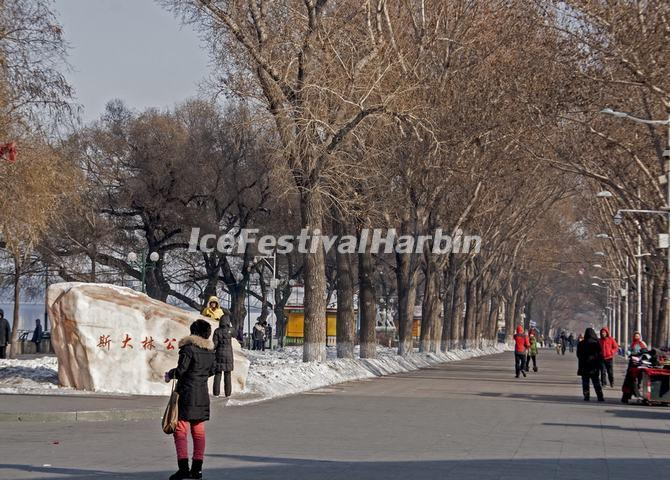 Harbin Stalin Park Winter
