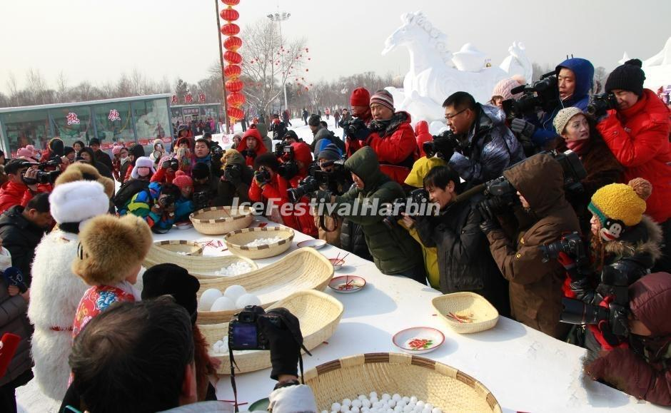 Celebrate Lantern Festival in Harbin Sun Island International Snow Sculpture Art Expo 2015