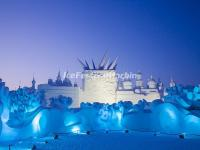 Harbin Snow Sculpture Art Expo at Night