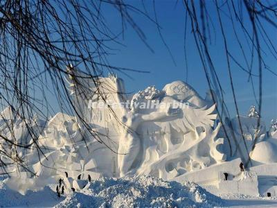 Harbin Sun Island International Snow Sculpture Art Expo 2018