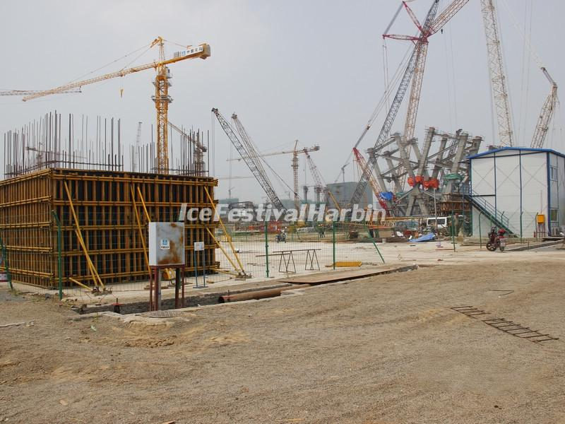 Harbin Wanda Indoor Ski Resort Construction Site