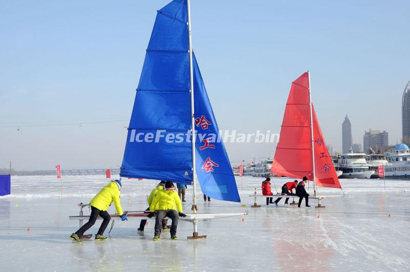 Harbin Ice Sailing