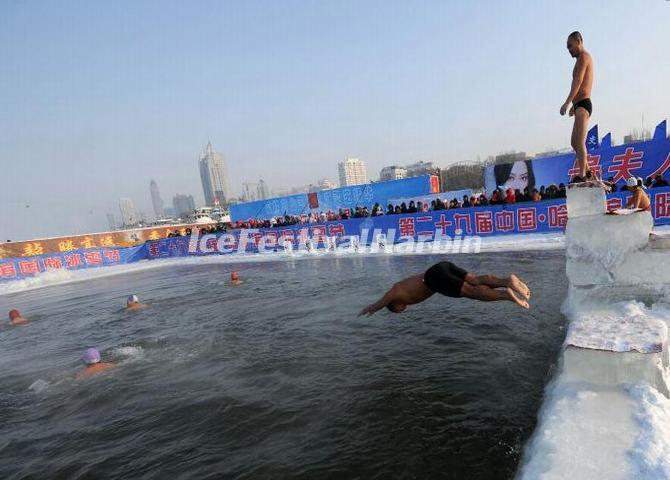 Winter Swimming Performance During the 29th Harbin Ice Festival
