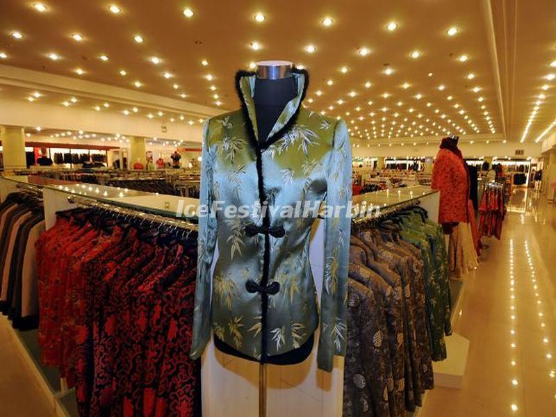 The Silken Garments for Sale in Shanghai Jiangnan Silk Museum