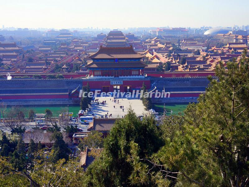 A Distance View of Forbidden City from Jinshan Park