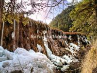 Jiuzhaigou Valley Ice Waterfall