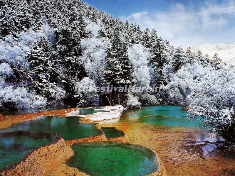 Jiuzhaigou Valley in Winter