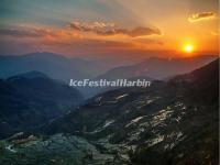 Sunset Over the Laohuzui Rice Terraces in Yuanyang