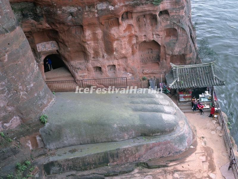 The Left Foot of the Leshan Giant Buddha