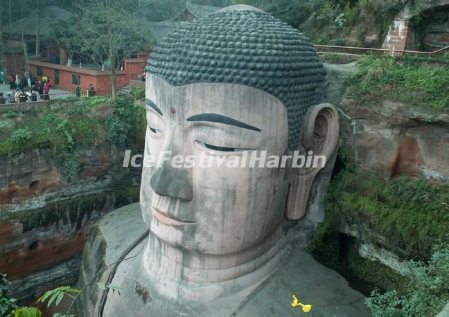 Head of the Leshan Giant Buddha