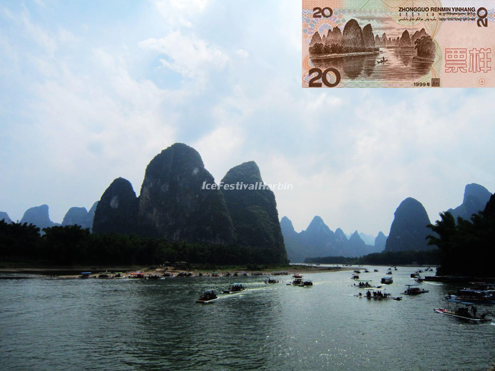 The Background of RMB 20yuan is Li River