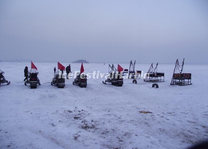 Snowmobiling in Harbin Longzhu Erlongshan Ski Resort