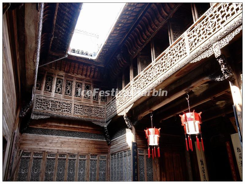 A Woodcutting House Inside in Huangshan Lucun Village