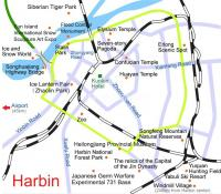 Harbin Ice and Snow Festival Map China