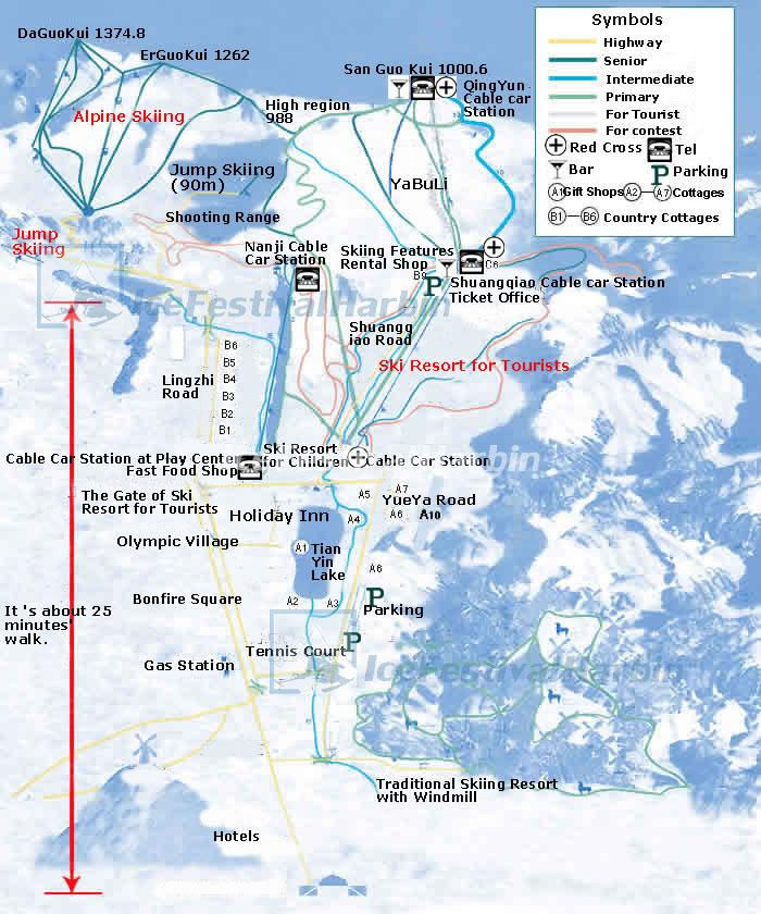 Best Places In The Us To Snowboard: Yabuli Ski Resort Map, China