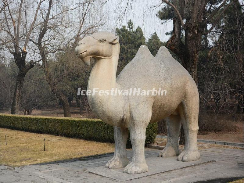 Ming tombs sacred way stone carving camel