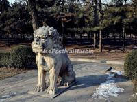 Ming Tomb Sacred Way Stone Carving-Sitting Lion