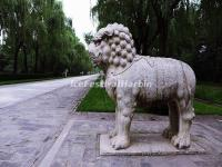 Ming Tomb Sacred Way Stone Carving-Standing Lion