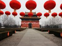 The Red Lanterns in Beijing Ming Tombs Sacred Way
