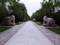 Ming Tombs Sacred Way Stone Carving-Elephants