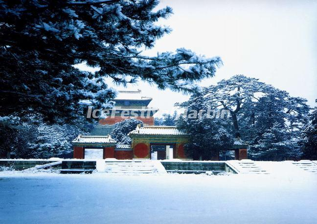Beijing Ming Tombs in Snow