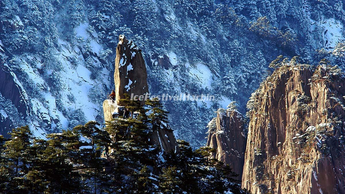 huangshan mountain winter