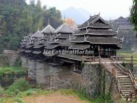 The Wind and Rain Bridge at Sanjiang Dong Villages