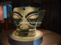 The Bronze Mask in Sanxingdui Museum, China