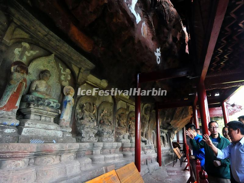 The Grottoes in Shibaoshan Mountain