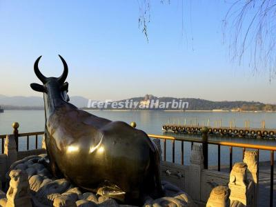 The Bronze Ox in Summer Palace Beijing