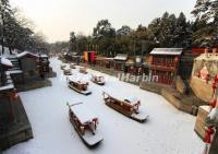 Summer Palace Suzhou Street in Snow