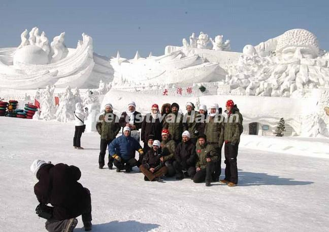 sun island international snow sculptre art expo