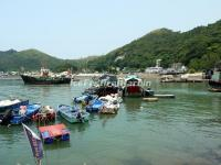 A sightseeing Sampan at the Tai O Fishing Village