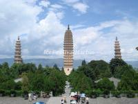 Three Pagodas of Chongsheng Temple in Summer