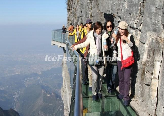 The Sky Walkway in Zhangjiajie Tianmen Mountain