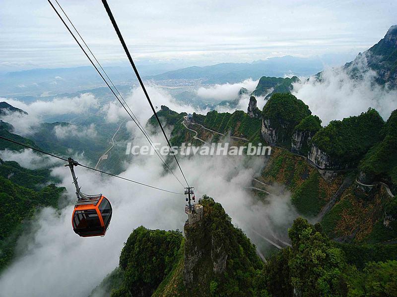 Tianmen Mountain Cable Car Zhangjiajie Tianmen Mountain