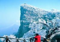 Zhangjiajie Tianmen Mountain in Snow