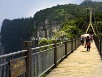 The Hanging Bridge in Zhangjiajie Tianmen Mountain