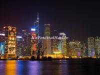 HK Victoria Harbour Night Scene