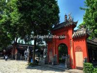 Entrance of the Tablets Corridor at Wenshu Temple
