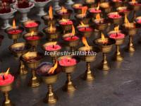 The Prayer Lamps in Wenshu Temple