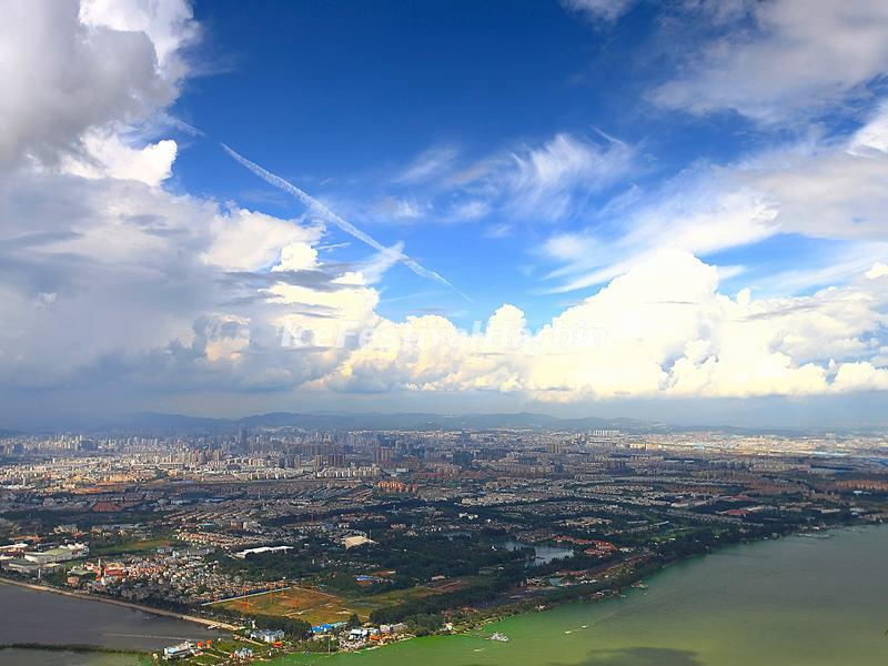 A View of the Dian Lake from Western Hills Kunming