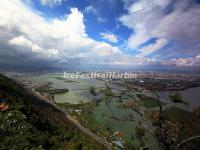 An Overlook at the Dianchi Lake from Kunming Western Mountain