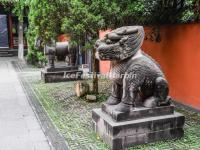 Wuhou Memorial Temple Animal Sculptures
