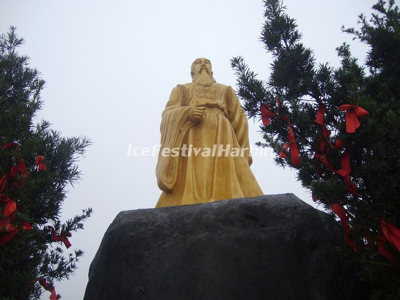 The Emperor Yao's Sculpture in Guilin Yao Mountain