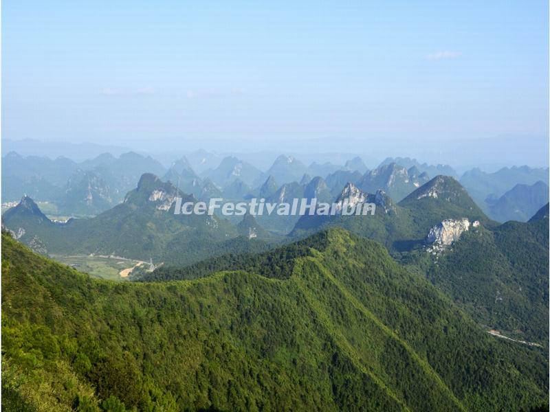 A View from Guilin Yao Mountain