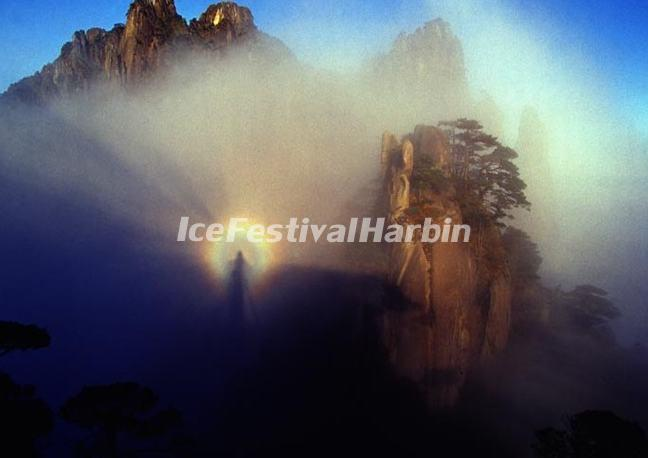 Buddhist Halo in the Yellow Mountain